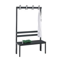 Cloakroom bench 100 cm wide - Single-sided with plastic slats