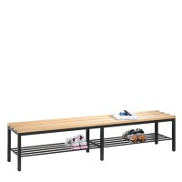 Dressing room sofa 200 cm wide with shoe rack (wooden slats)