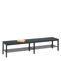 Dressing room sofa 200 cm wide with shoe rack (plastic seat slat..