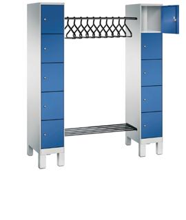 Coat rack with lockers