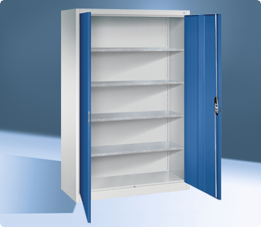 Cupboards with shelves