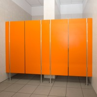 Sanitary walls / shower cubicles - Model D (solid core)