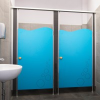 Sanitary walls / shower cubicles - Model C (solid core)